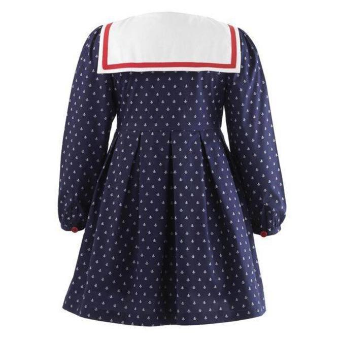 Rachel Riley Anchor Sailor Dress (Navy and Ivory)