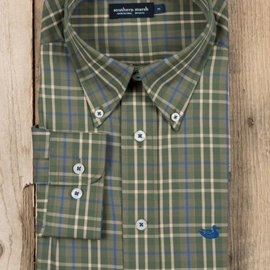 Southern Marsh Adult King Windowpane Dress Shirt