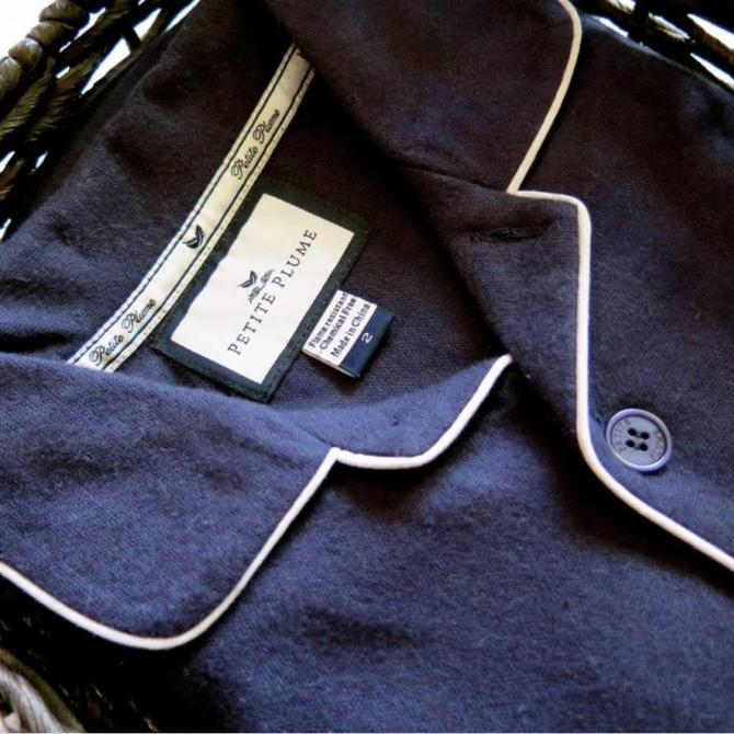 Petite Plume Petite Plume Classic Navy Pajamas