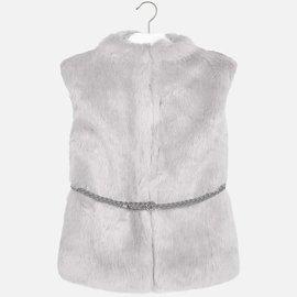 Mayoral Fur Vest with Belt