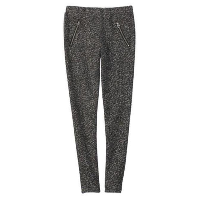 Splendid Jacquard Legging Front Zipper