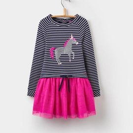 Joules Joules Layer Dress Unicorn