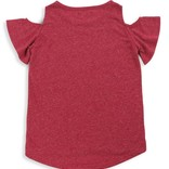 7 for All Mankind Cold Shoulder Tee - Heathered Red