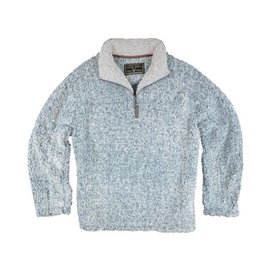 True Grit Vintage Blue Frosty Tipped 1/4 Zip Pullover