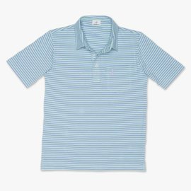 Johnnie-O Johnnie-O Macon Jr. Striped 4-Button Polo