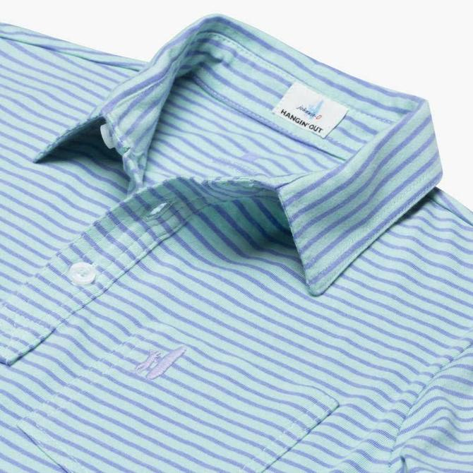Johnnie-O Johnnie-O Macon Jr. Striped 4-Button Polo