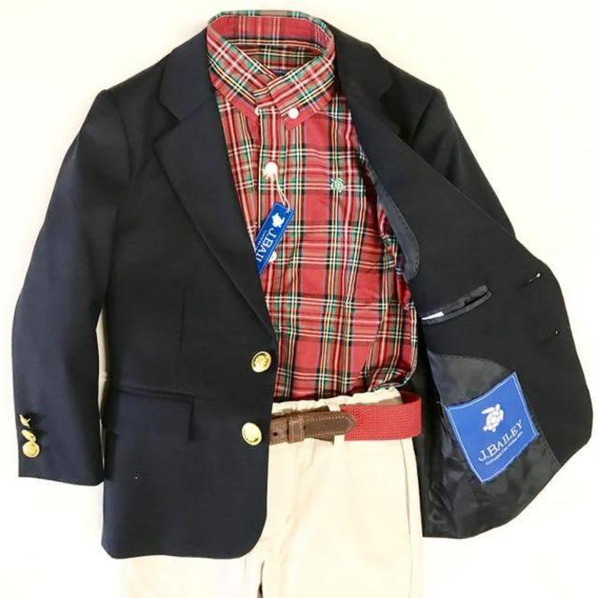 The Bailey Boys J. Bailey Navy Blazer