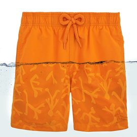 Vilebrequin Vilebrequin Boys Swim Suit Orange Water Reactive