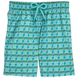 Vilebrequin Vilebrequin Boys Swim Suit All Over Print Light Blue