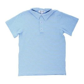 Busy Bees Busy Bees Polo - Sky Stripe Knit