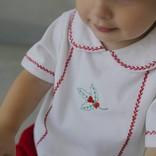 Little English Little English Holly Feather Stitch Short Set