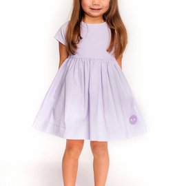Smiling Button Simling Button Lavender Cord Sunday Dress
