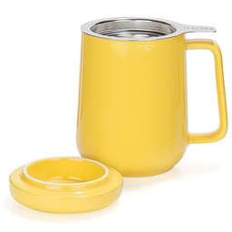 Yellow Ceramic Mug With Infuser 19oz