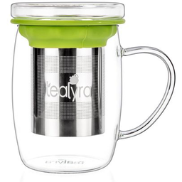 Glass Cup Infuser Mug