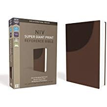 NIV Super Giant Print Reference Bible, Brown, Red Letter 9379