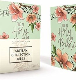 NIV Artisan Collection Bible Teal Floral 3352