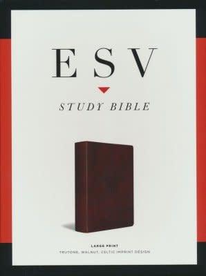 ESV Study Bible Large Print, walnut 4710