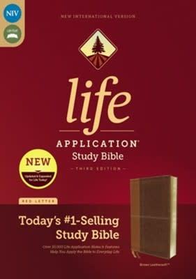 NIV Life Application Study Bible brown 2829