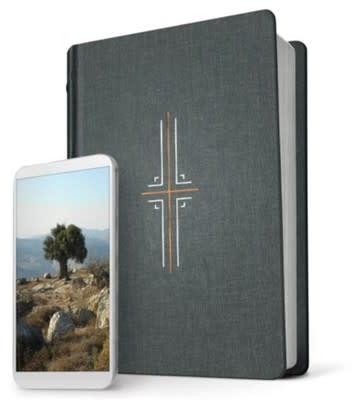 NLT Filament Bible gray cloth index 4479