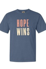 Hope Wins - T-Shirt - Blue Jean  LARGE