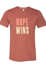 Hope Wins - T-Shirt - Clay  LARGE