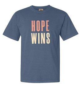Hope Wins - T-Shirt - Blue Jeans 2-XL