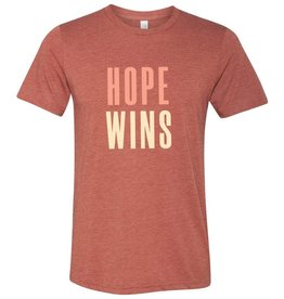 Hope Wins - T-Shirt- Clay  SMALL