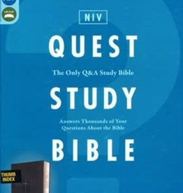 NIV Quest Study Bible, Black Index 0832