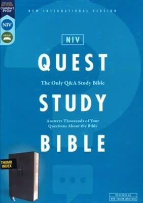 NIV Quest Study Bible, Black Index 0832