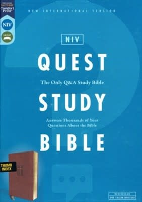 NIV Quest Study Bible, Brown Index 0856
