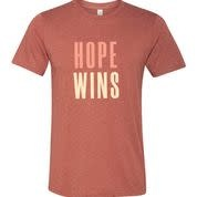 Hope Wins T-Shirt - Clay
