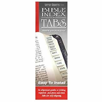 Horizontal Bible Tabs, Horizontal silver 3376