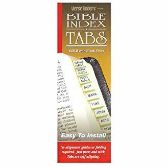Horizontal Verse Finders Tabs - Gold  3048