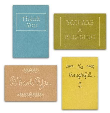 Boxed Cards thank you 0170