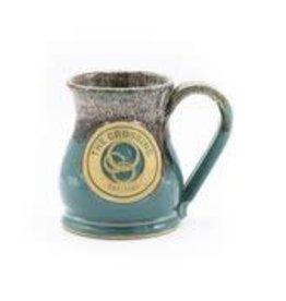 Ceramic Potbelly Mug  16.0z  TEAL