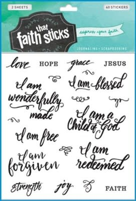Who I Am In Christ Stickers 8280