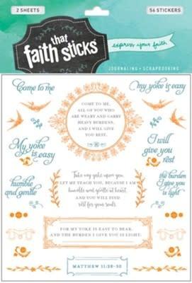 Matthew 11:28-30 Stickers 8327