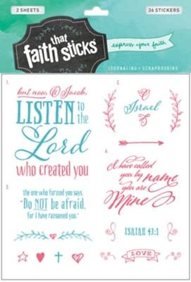 Isaiah 43:1 Stickers 3001