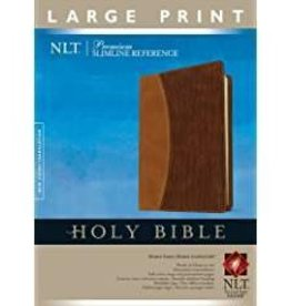 Tyndale NLT Holy Bible Slimline Reference, brown,  Large Print 7114