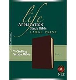 Tyndale House Publishers NLT Life Application Study Bible Large Print, burgundy 7213