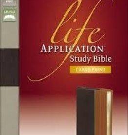 Zondervan NIV Life Application Study Bible, Large Print, Brown/Tan 4795