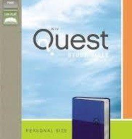Zondervan NIV Quest Bible Personal Size, blue 9688