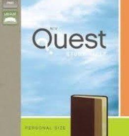 Zondervan NIV Quest Bible Personal Size, burgundy/tan 1477
