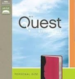 Zondervan NIV Quest Bible Personal Size, pink/grey 9695