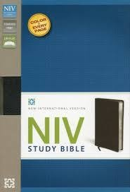 Zondervan NIV Study Bible, black 7437