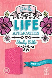 Tyndale NLT Girls Life Application Study Bible, pink 7795