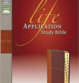 Zondervan NIV - Life Application Study Bible, Tan/Brown, Indexed, Red Letter Edition 4610