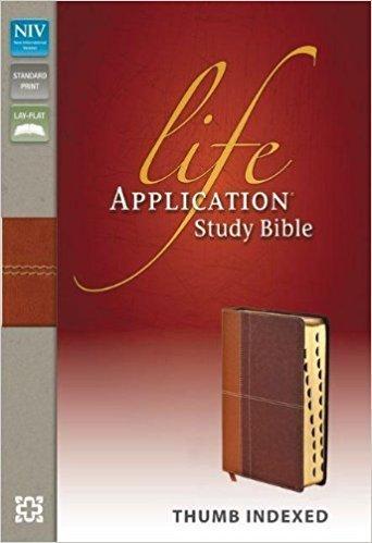 Zondervan Niv Life Application Study Bible Tan Brown Indexed