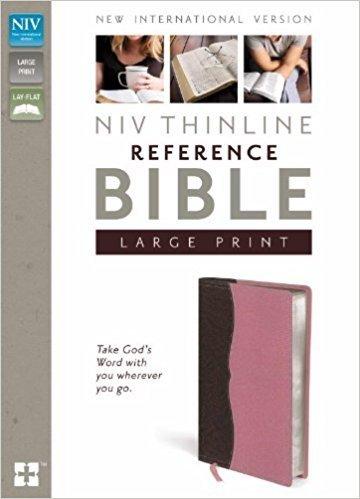 Zondervan NIV Thinline Reference Bible (Italian Duo-Tone), Pink 6447