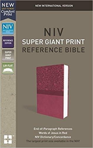 Zondervan NIV Super Giant Print Reference Bible, Pink, Red Letter 5944